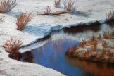 Winter Stream (pastel) 18x27 cm $80