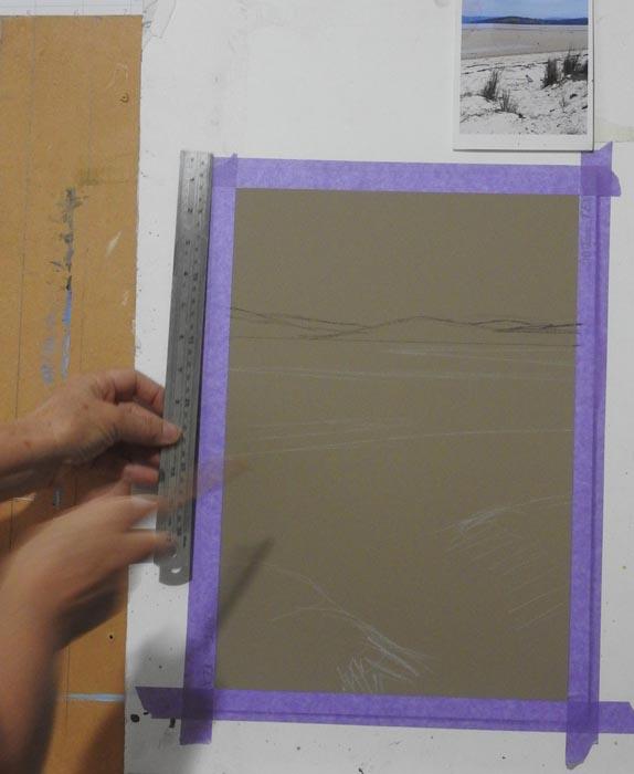 Measure on painting