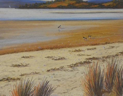 How to paint a pastel seascape -demo