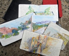 Visual memories - my travel sketch books.