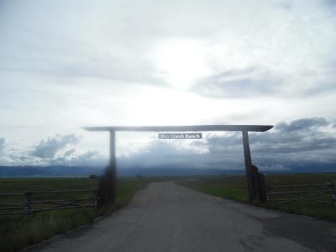 Backlit ranch sign