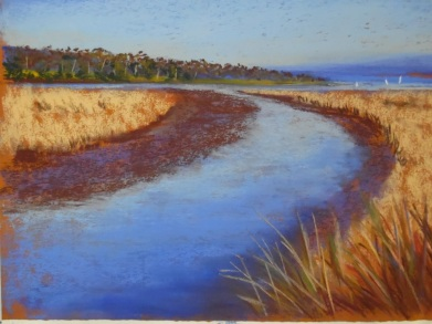 Pastel painting - wetlands