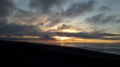 Sunset Hokitika beach