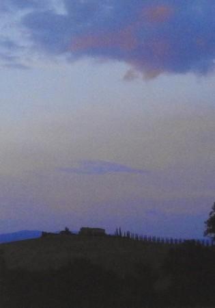 Tuscan evening sky