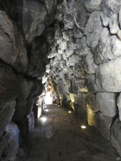 Nuraghi fortress passage. Sardinia