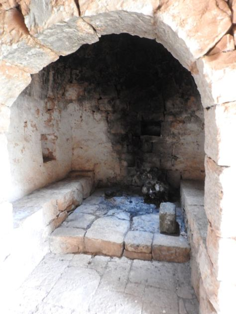 Trullo fireplace