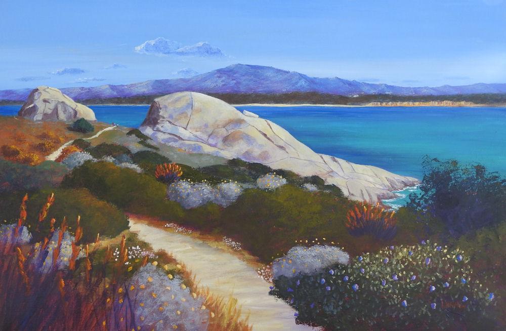 Acrylic painting Capo Testa Sardinia