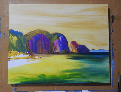 acrylic-ink-underpainting