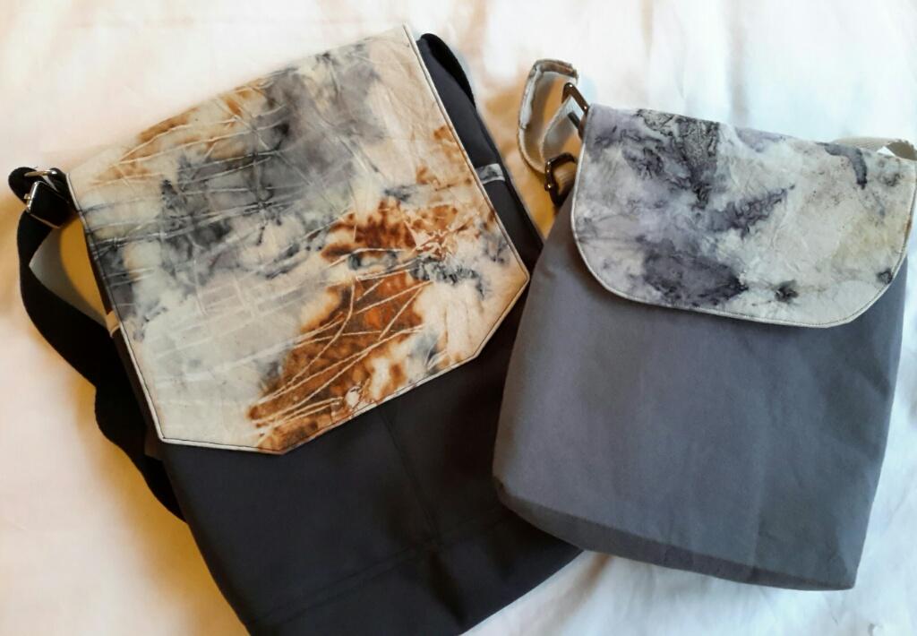 Eco printed fabric bags