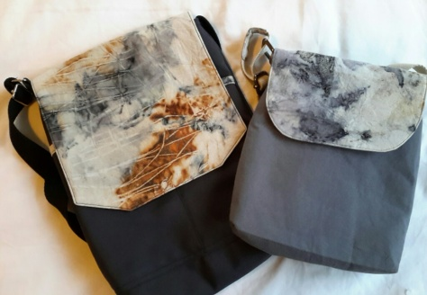 Eco printed fabric bags