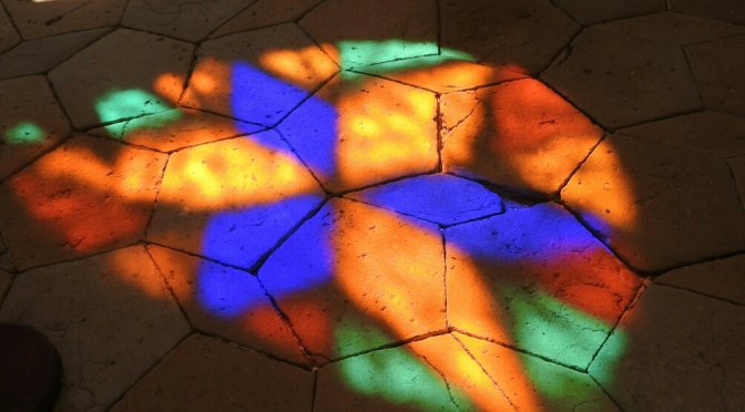 The wonder of stained glass windows.