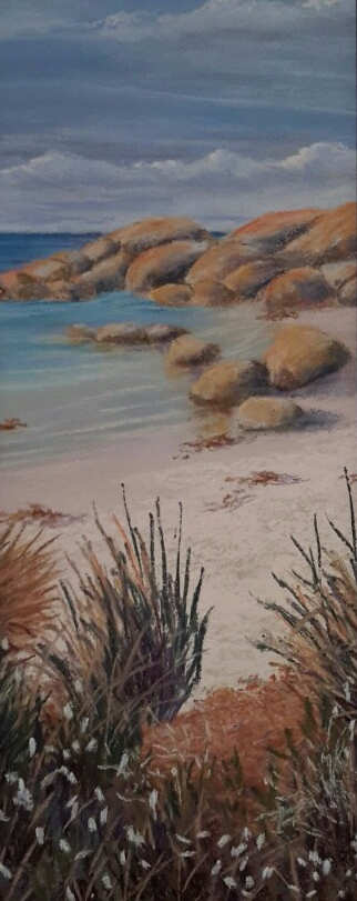 Bay of Fires pastel painting.