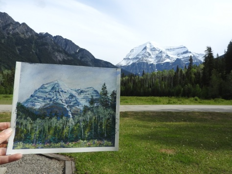 Painting at Mt Robson